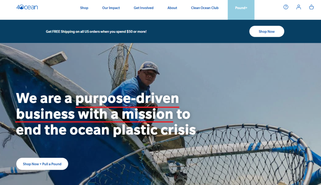 4ocean scam home page