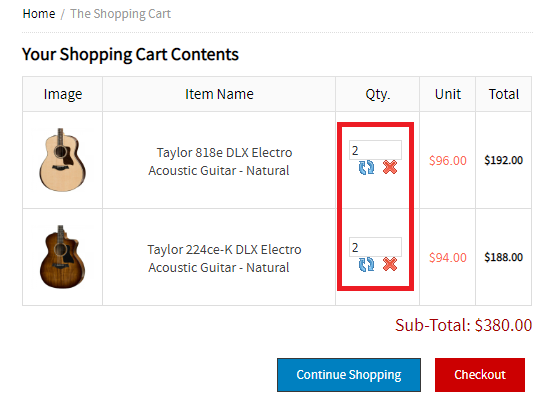 deathones guitar shop scam fake cart