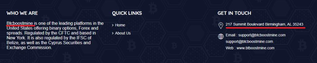 CryptoFxBlockmining BTCBoostmine BTCFrost FastProfitOptions scam fake address 1