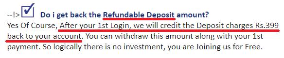 onlinedataentryjob online data entry job scam website fake refundable deposit