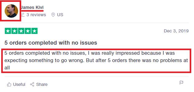 instafamous pro scam fake trustpilot review 3