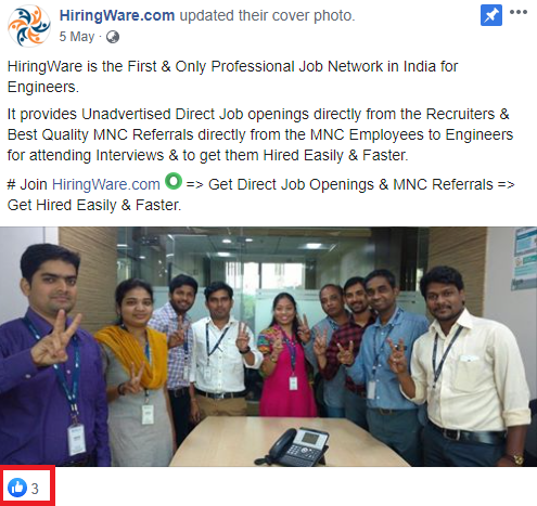 jobacute hiringware scam facebook post 1