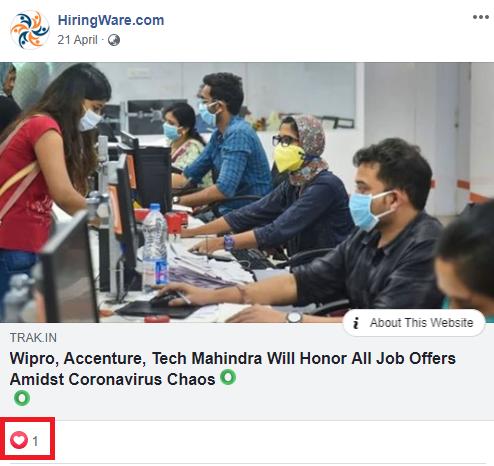 jobacute hiringware scam facebook post 4