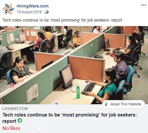 jobacute hiringware scam facebook post 5