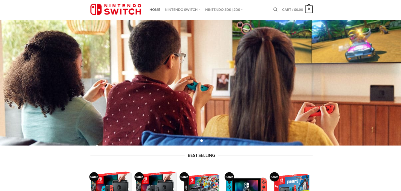 nintgameset puppystore nintendo scam home page
