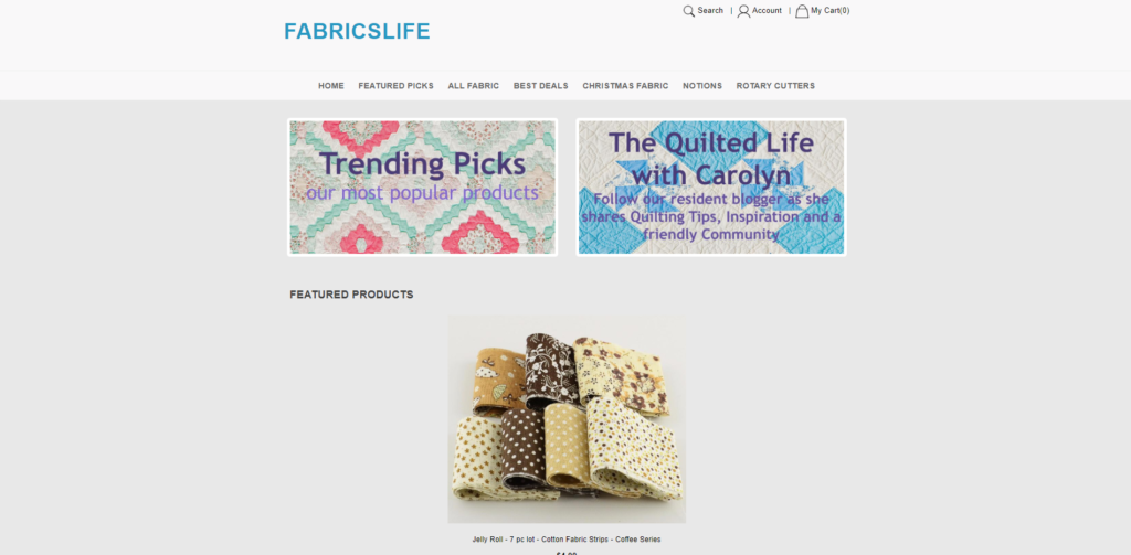 fabricslife scam home page