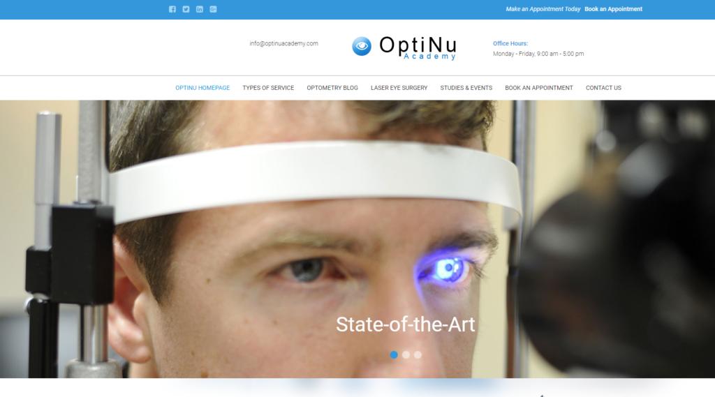 optinu academy scam home page