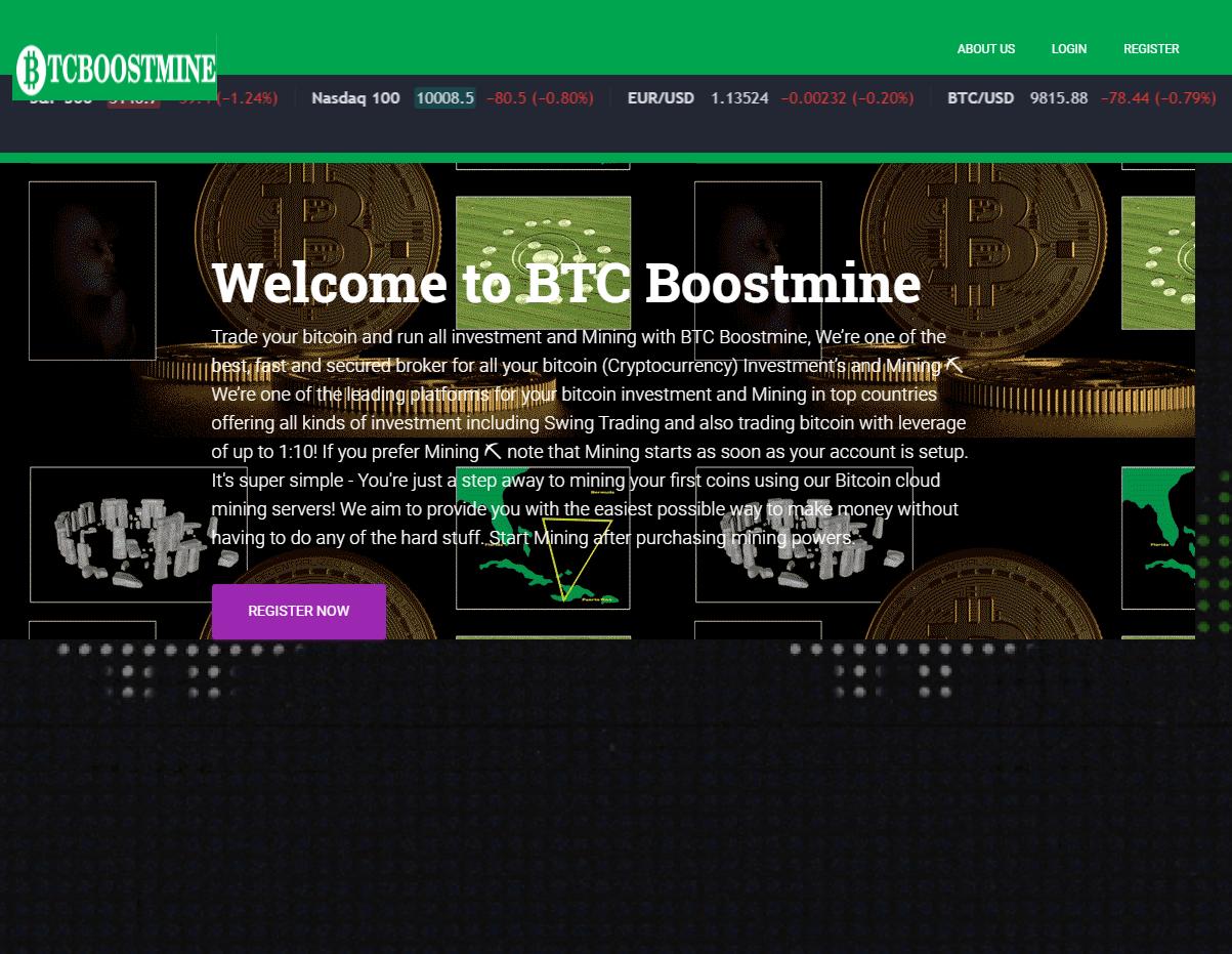 CryptoFxBlockmining BTCBoostmine BTCFrost FastProfitOptions scam home page 2