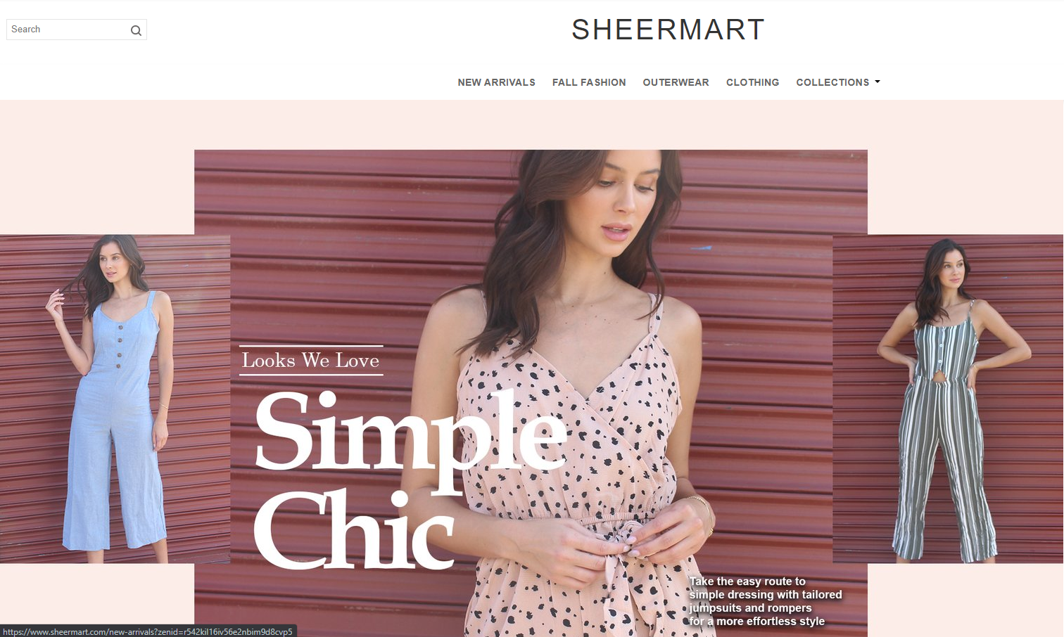sheermart phishing scam home page