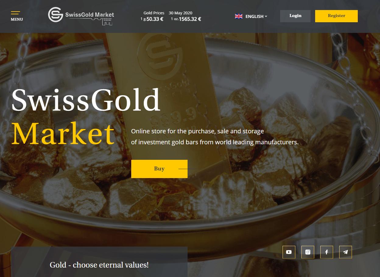 swissgold market home page ponzi scheme