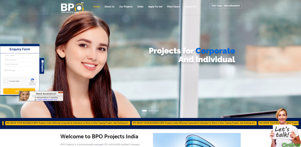bpo projects provider india home page