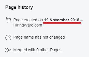 jobacute hiringware scam faecbook page creation date