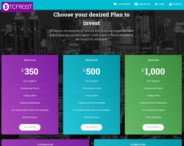 CryptoFxBlockmining BTCBoostmine BTCFrost FastProfitOptions scam plans 3