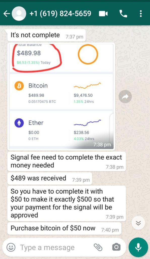 24crypotrade scam whatsapp