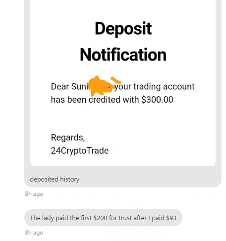24crypotrade scam sunil message 1