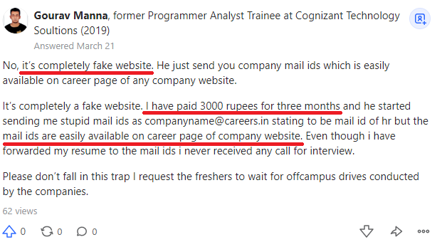jobacute hiringware scam negative review