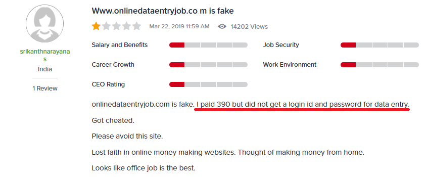 onlinedataentryjob online data entry job scam website review 2