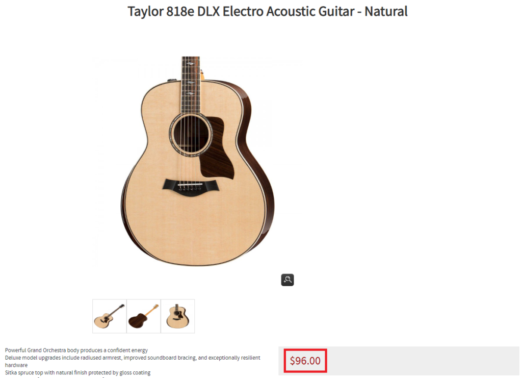 deathones guitar shop scam taylor guitar fake price