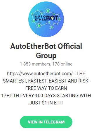 autoetherbot ethereum scam telegram group