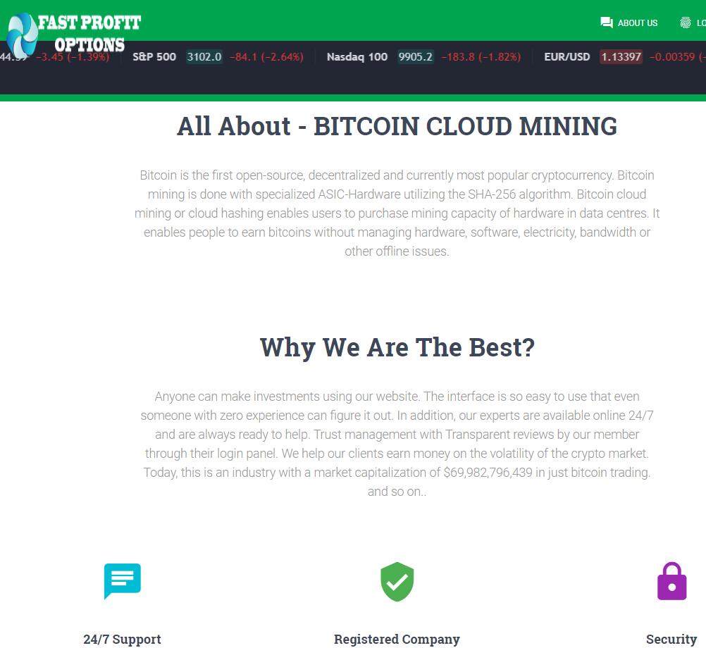 CryptoFxBlockmining BTCBoostmine BTCFrost FastProfitOptions scam whyus 3