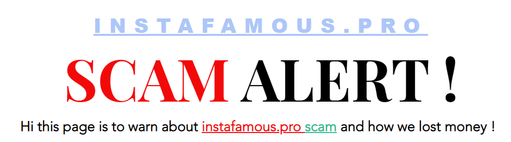 instafamous pro scam exposed website