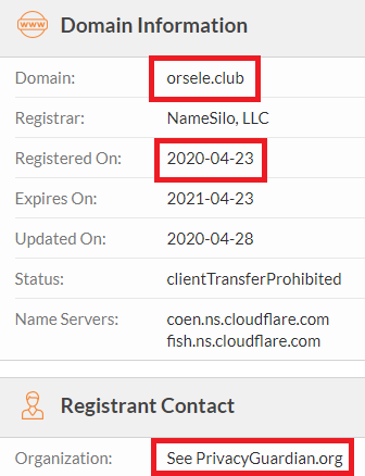 orsele scam website whois