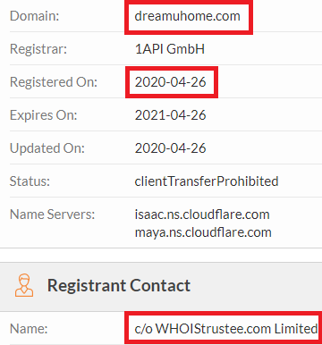 dreamuhome manyhnice scam whois