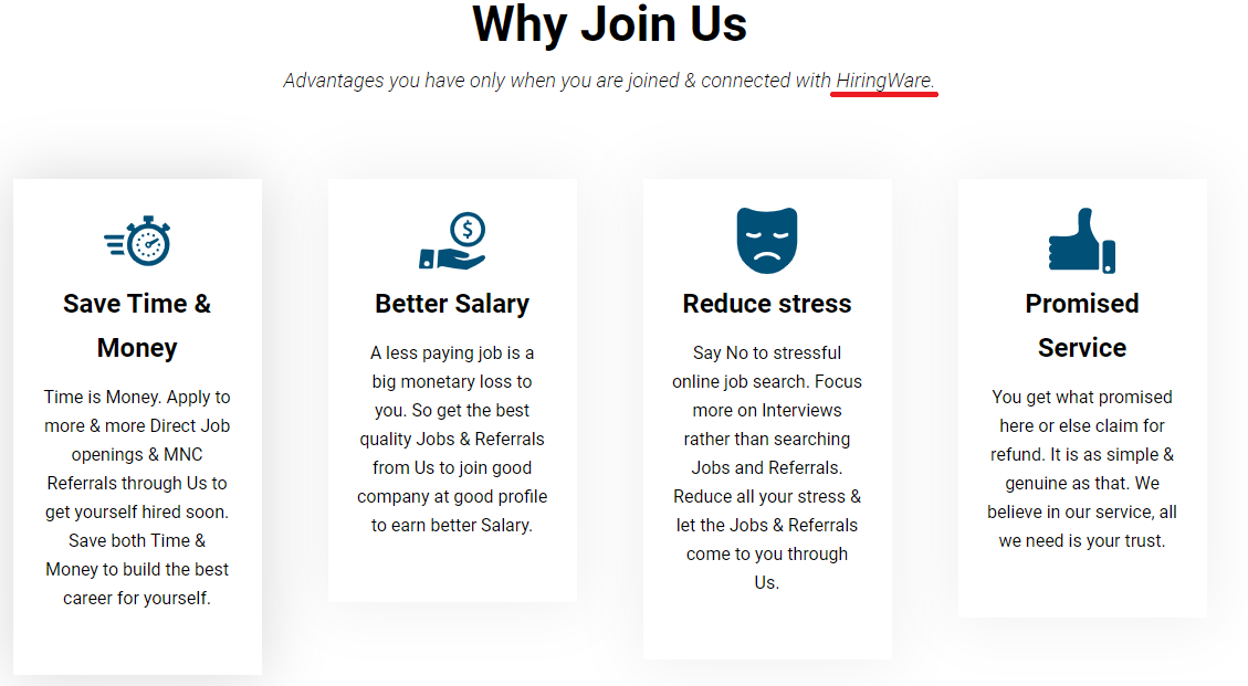 jobacute hiringware scam join us 2