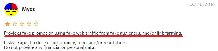 instafamous pro scam negative review web of trust 2