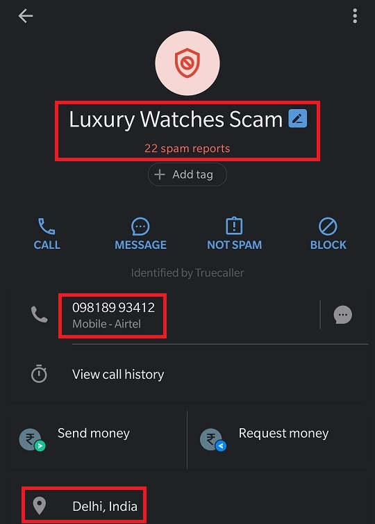 luxorify luxury watch scam truecaller