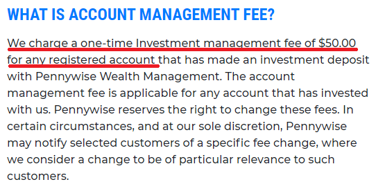 pennywise wealth management scam fee