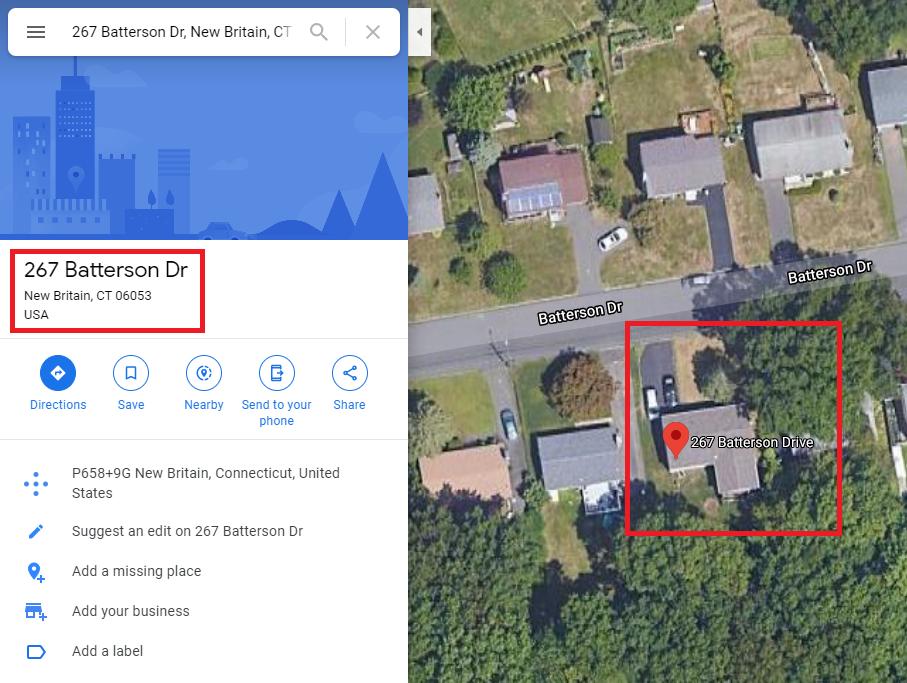 fake address