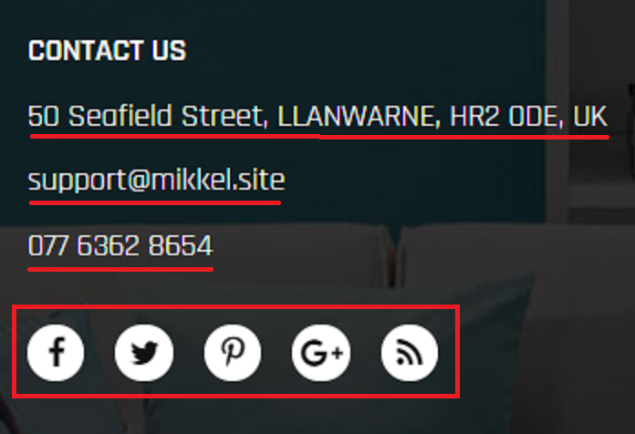 mikkel.site fake contact details