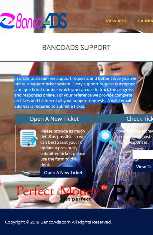 bancoads contact page