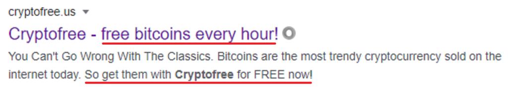 cryptofree scam google