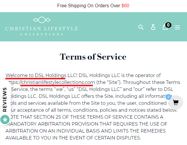 christian lifestyle collection dsl holdings