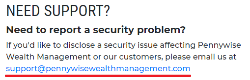 pennywise wealth management scam email