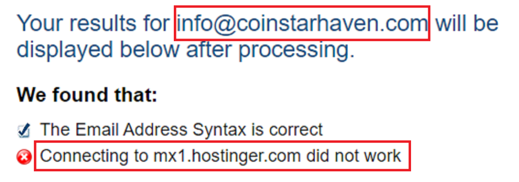 coinstarhaven fake contact address