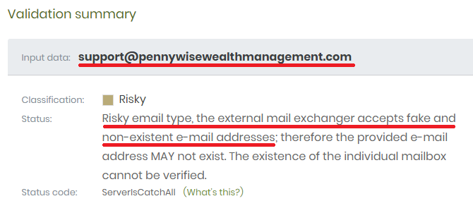pennywise wealth management scam address