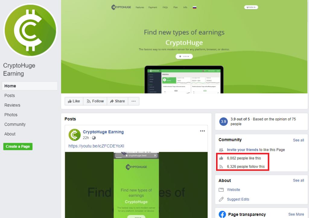 cryptohuge facebook 1