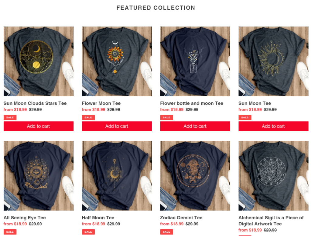 solstice collection tshirts