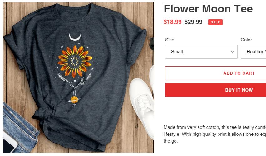 solstice collection flower moon tee copied design