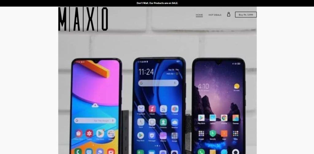 maxo phones banner image fake