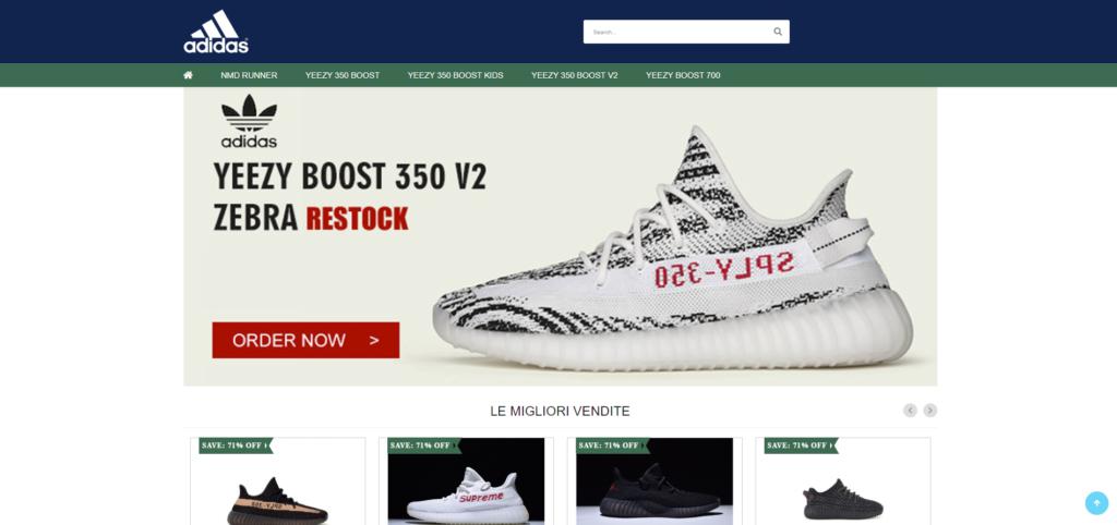 fake adidas store
