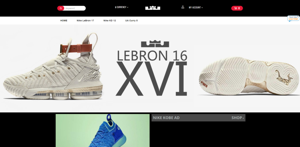 fake lebron james nike store
