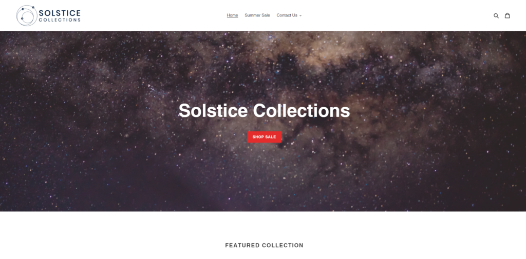 solstice collections home page