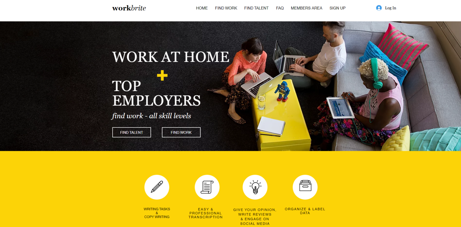 workbrite home page