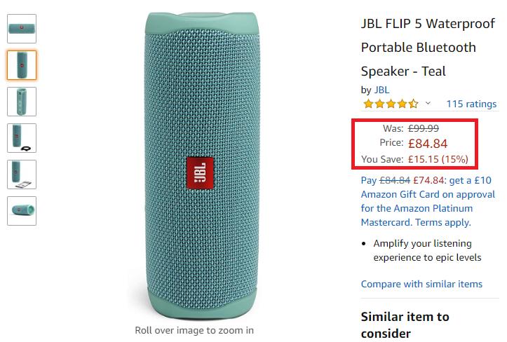jbl flip 5 real price