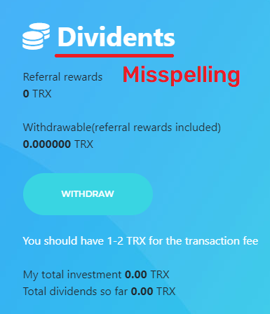 dividends spelled as dividents