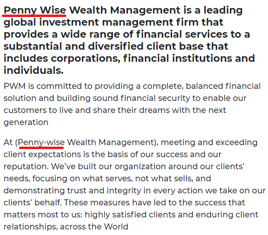 pennywise wealth management scam name 2